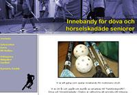 Innebandy för döva och hörselskadade seniorer i Örebro